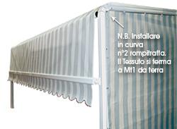 Tende a scorrimento modello giardino serie speciale 3000 top - Tende per doccia rigide ...
